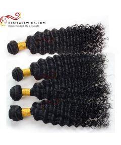 4Pcs/Lot Water Wave Virgin Indian Hair Weaves Extensions [BS184]