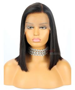 Silky Straight BOB Lace Front Wig Indian Remy Hair [BOB014]