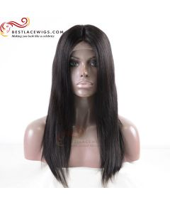 Silky Straight Virgin Indian Hair Lace Front Wigs Thick Hair[GSW145]