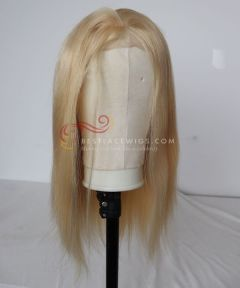 Silk Top 24# 16in Silky Straight Brazilian Virgin Hair Lace Front Wig  [CWS99]