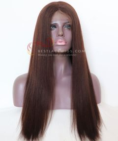 20in Yaki Straight Indian Remy Hair lace front wig  [CWS121]