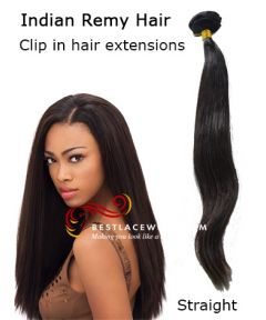 Indian Remy Hair Clip In Hair Extensions Straight Hair [CLIP11]