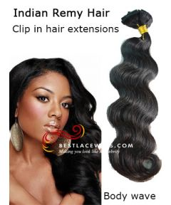 Clip In Hair Extensions Indian Remy Hair Body Wave [CLIP13]