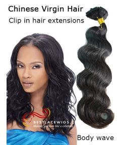 Body Wave Clip In Hair Extensions Virgin Chinese Hair [CLIP53]