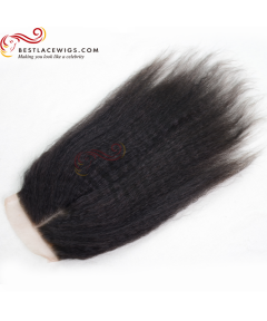 Brazilian Virgin Hair Lace Closure Kinky Straight Hair [BRW004]