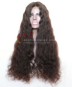 24in Wavy Brazilian Virgin Hair Glueless Full Lace Wig  [CWS122]