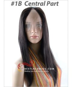 Lace Front U-Part Wigs Indian Remy Yaki Hair [UW10]
