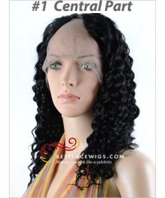 Lace Front U-Part Wigs With Water Wave Indian Remy Hair [UW13]