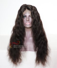 22in Big Wave Brazilian Virgin Hair Glueless Full Lace Wig  [CWS149]