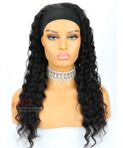 Deep Wave Indian Remy Hair Headband Wigs [HB008]