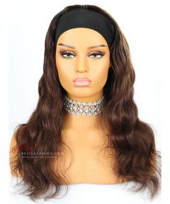 Ombre Color Body Wave Indian Remy Hair Headband Wigs [HB012]