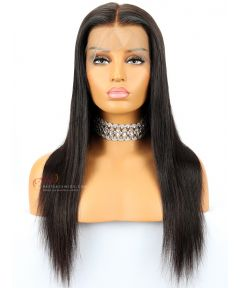 Silky Straight Indian Remy Hair Glueless Lace Front Wigs[SW080]
