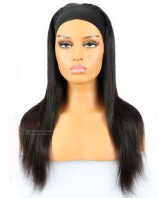 Silky Straight Indian Remy Hair Headband Wigs [HB001]
