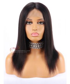 "12"" 130% Density Yaki Straight Indian Remy Hair Lace Front Wig[CWS103]"
