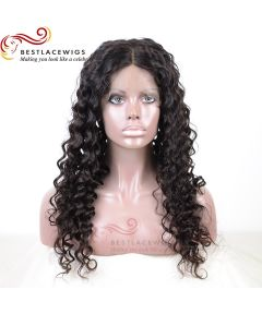 Silk Top Glueless Full Lace Wigs Virgin Human Deep Wave Hair [GSW048D]