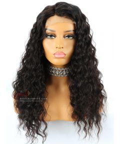 22in Loose Wavy Indian Remy Hair Glueless Full Lace Wig [CWS80]