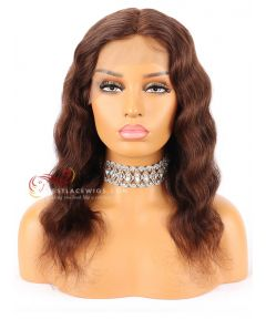 4# Body Wave Indian Remy Hair 130% Density Lace Front Wig [CWS126]