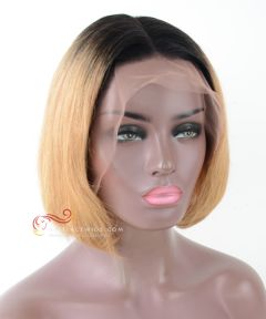 Pre-Plucked 13X6 Lace Frontal Wig 1#/27# Straight BOB Style [BOB020]