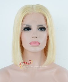 Pre-Plucked 13x6 Lace Frontal Wig 613# Straight BOB Hairstyle 150% Density [BOB613]