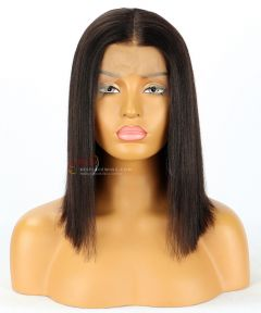 8in Deep Wave Indian Remy Hair Full Lace Wig Thin Skin Around [CWS96]