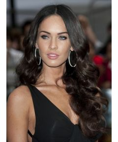 Megan Fox Wavy Celebrity Indain Remy Hair Glueless Full Lace Wigs [GSW500]