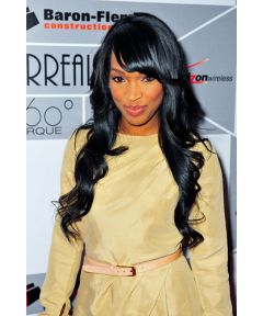 Hot Full Lace Wigs With Bang Indian Remy Malika Haqq Hair [GSW302]