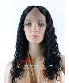 Lace Front U-Part Wigs With Indian Remy Hair Deep Wave [UW12]