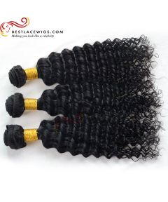 3Pcs/Lot Water Wave Virgin Indian Human Hair Weaves Extensions [BS084]