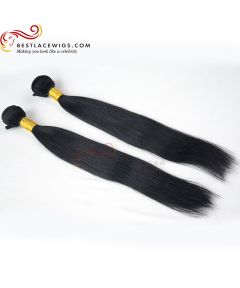 2Pcs/Lot Virgin Indian Straight Hair Weaves [BS015]