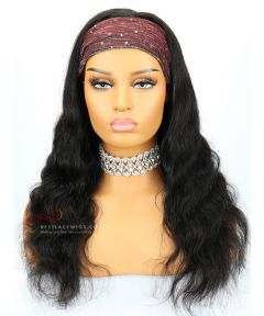 Body Wave Indian Remy Hair Headband Wigs [HB006]