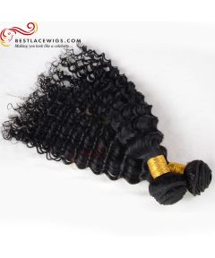 2Pcs/Lot Virgin Indian Water Wave Hair Weaves [BS092]