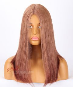 6#33# Color Silky Straight Silk Top Jewish Wigs Brazilian Virgin Hair [CWS15]