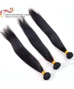 Virgin Indian Hair 3Pcs Bundles Straight Hair Weaves Extensions [BS081]