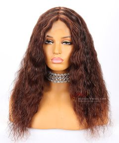 12in 150% Density Body Wave Brazilian Virgin Hair Full Lace Cap with Silk Top Wig [CWS40]