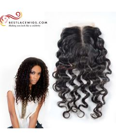 Middle Part Lace Closure Loose Wave Brazilian Virgin Hair [BRW001]