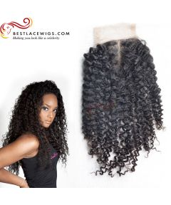 Middle Part Lace Closure Kinky Curl Virgin Brazilian Hair [BRW003]