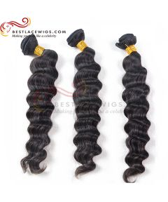 3 Bundles Natural Color Milan Curl Indian Virgin Hair Weaves[CWS086]