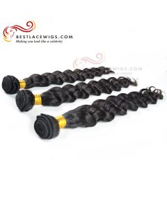 3 Bundles Loose Wave Indian Virgin Hair Weaves  [CWS087]