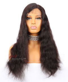 18in 1b# 130% Density Body Wave Indian Remy Hair Full lace Wig[CWS43]
