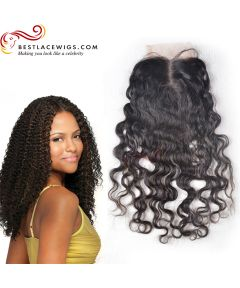 Middle Part Lace Closure Brazilian Curl Brazilian Virgin Hair [CN07]