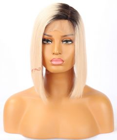 12in Silky Straight Bob Style Brazilian Virgin Hair Silk Top Lace Front Wig[CWS119]