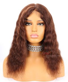 14in 120% density Wavy Brazilian Virgin Hair Full Lace Wig  [CWS142]