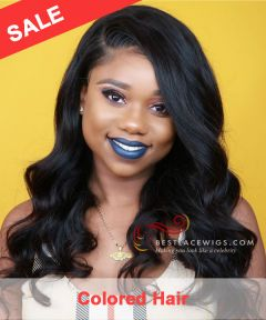 4# Color 150% Density Body Wave Indian Remy Hair 360 Lace Wigs [GLW018M]