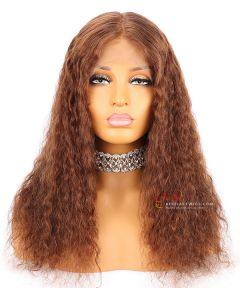 4# 16in 130% Density Curly Style Indian Remy Hair Glueless Full Lace Wig [CWS77]
