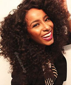 Brazilian Virgin Hair Glueless Full Lace Wigs Popular Loose Curly Hair [GSW129]