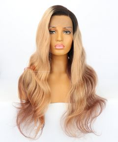 22in Wavy Brazilian Virgin Hair Lace Front Wigs  [CWS75]