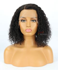 Heavy Density Natural Curly BOB Lace Front Wig Indian Remy Hair[BOB04]