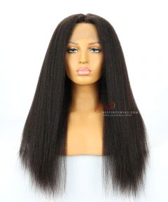 "20"" 130% Density Kinky Straight Brazilian Virgin Hair Lace Front Wig[CWS174]"