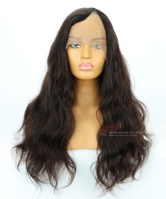 22in Brown Color Body Wave 130% Density Indian Remy Hair U-Part Wig[CWS203]