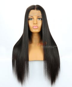 "22"" 130% Density Silky Straight Brazilian Virgin Hair Lace Front Wig[CWS171]"